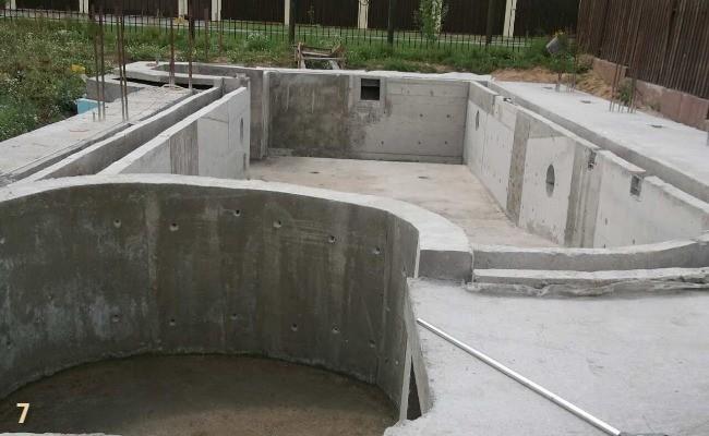 Бетонирование бассейна