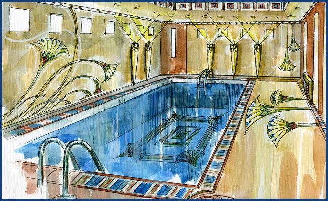 Эскиз бассейна