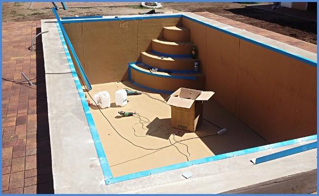 Этапы строительства бассейнов